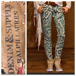 Ralph Lauren Denim & Supply Patterned Jeans, 31